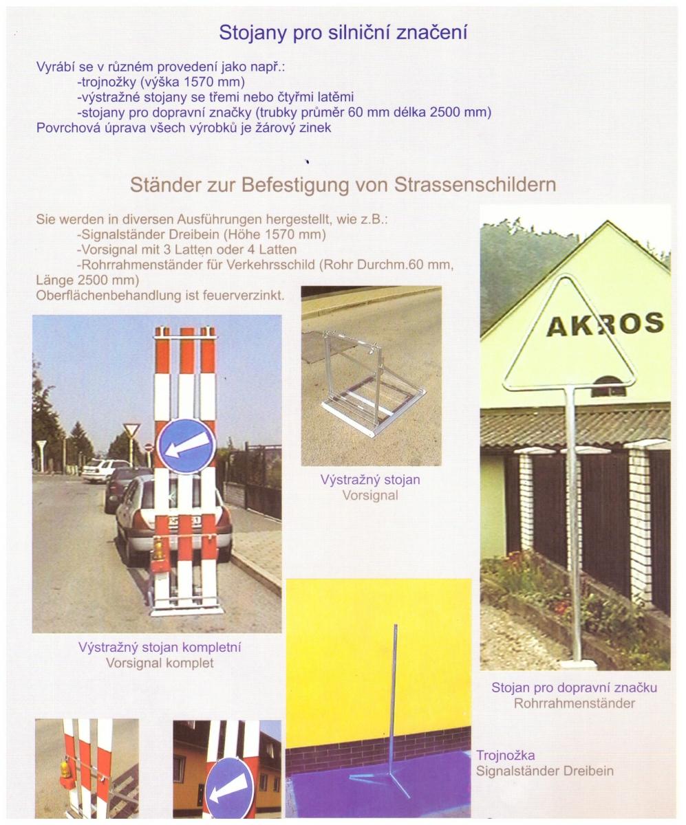 Stojany pro silniční značení