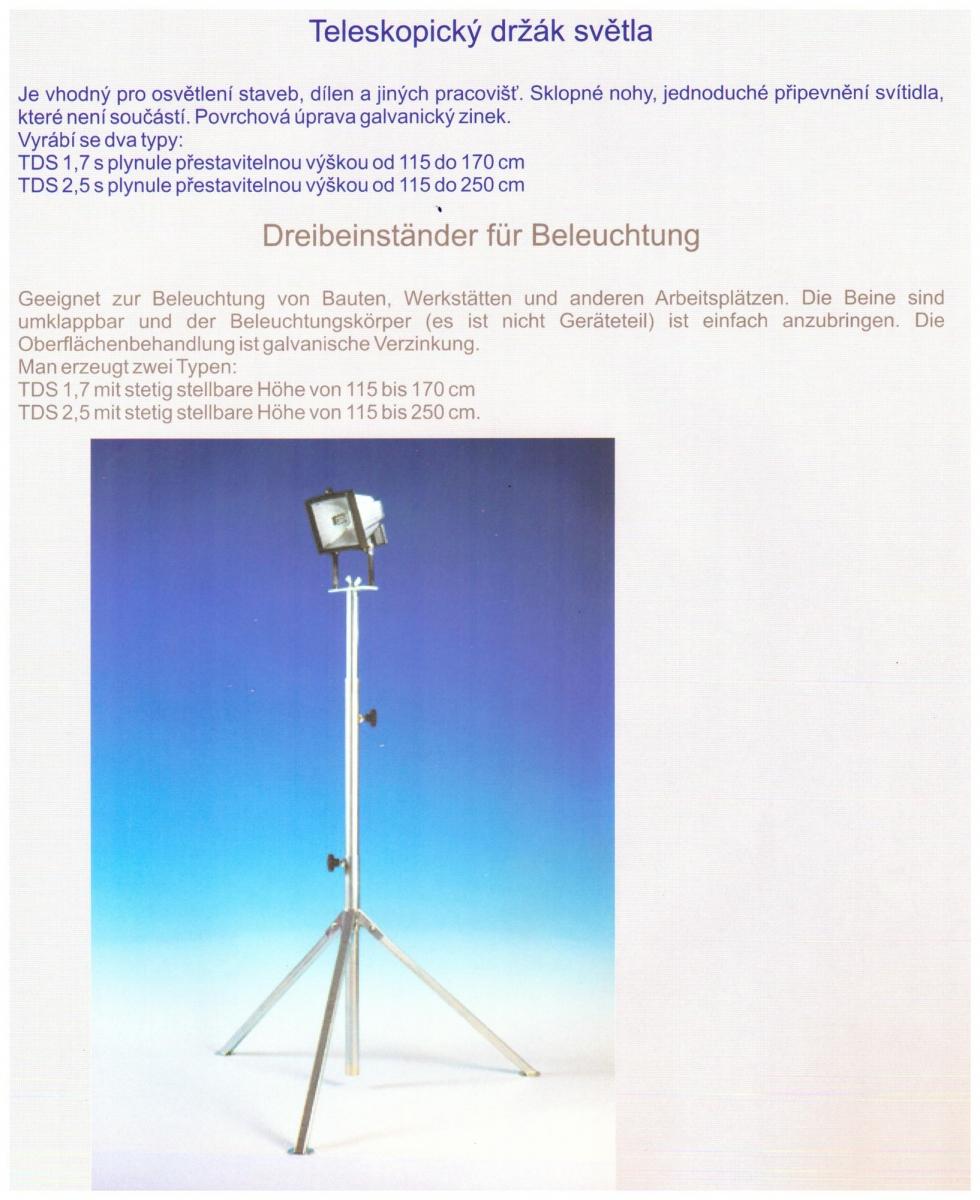 Teleskopický držák světla